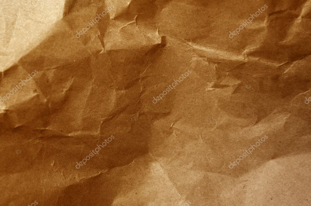 Close-up of wrinkled brown paper — Stock Photo #5942134