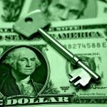 Key to profits — Stock Photo