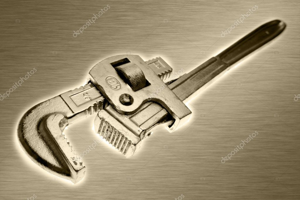 Plumbers wrench closeup — Stock Photo #6502752