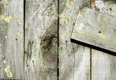 Close-up van oude houten hek boards — Stockfoto
