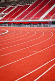 Running track for athletics — Stock Photo