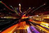 Abstracte gekleurd licht 's nachts — Stockfoto