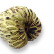 Rip custard apple isolated on white with clipping paths — Stock Photo