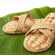 Stock Photo: Handmade slippers