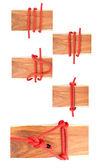 Knot series : scaffold hitch knot — Stock Photo