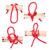 Knot series : highwayman's hitch — Stock Photo