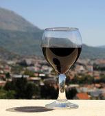 Bicchiere di vino rosso — Foto Stock
