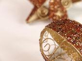 Golden Christmas sphere — Stock Photo