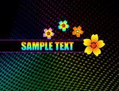 Background flowers design — Stock Vector