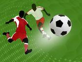 Cartel diseño fútbol — Vector de stock