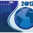 Royalty-Free Stock Vector Image: July Bussines Calendar.