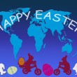 Royalty-Free Stock Vector Image: Happy Easter in all world