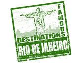 Rio de Janeiro stamp — Stock Vector