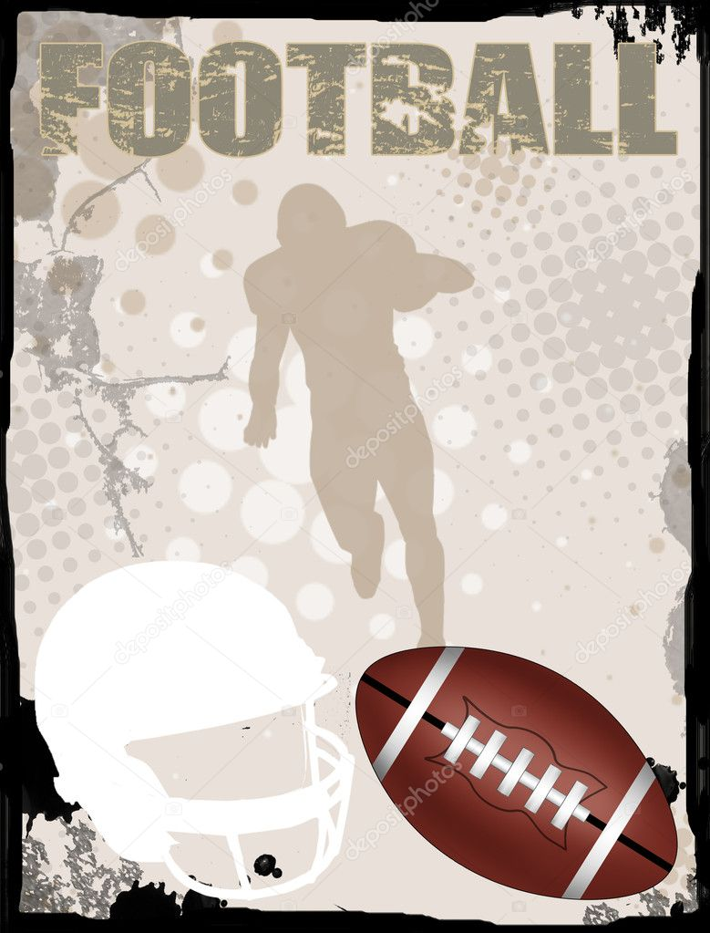 American football grungy background, vector illustration — Stock Vector #5472240