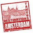 Amsterdam stamp - Stock Vector