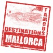 Mallorca stamp — Stock Vector