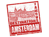 Amsterdam stamp — Stock Vector