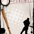 Stock Vector: Baseball poster