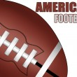 American football ball — Vector de stock