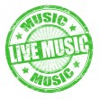 Live music stamp - Stock Vector