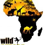 Wild Africa poster — Stock Vector #5558694
