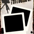 Vintage poster with instant photos - Stock Vector