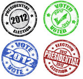 Set of presidential election grunge stamps — Stock Vector