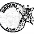 Safari stamp — Stock Vector