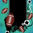 Grunge american football poster - Stock Vector