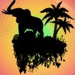 Stock Vector: Elephant silhouette