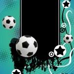 Grunge soccer poster — Stock Vector #5641784