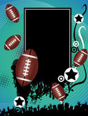 Grunge american football poster — Stock Vector