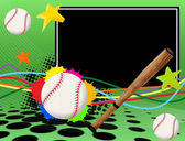 Baseball poster — Vector de stock
