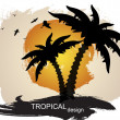 Tropical background — Stock Vector #5673537