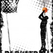 Basketball poster - Stok Vektr