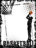 Basketbal poster — Vector de stock