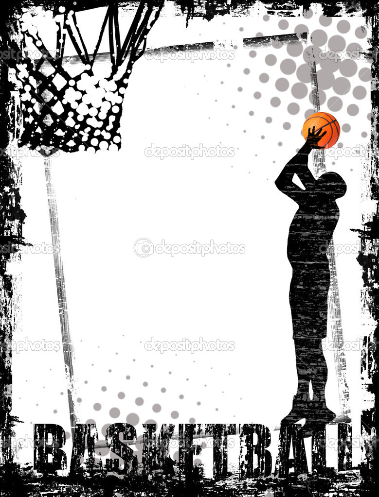 Dirty basketball poster background, vector illustration  Stock Vector #5683688