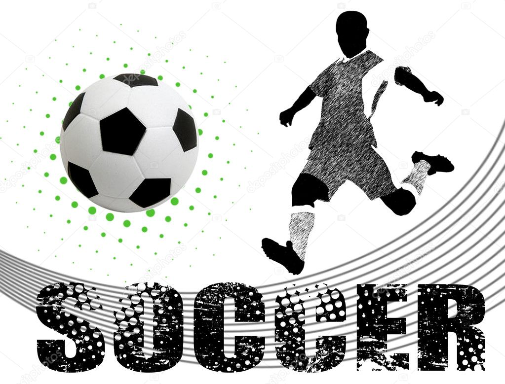 Soccer poster background, vector illustration — Stock Vector #5683692
