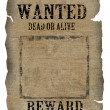 Vintage wanted poster — Stock Photo #5691610