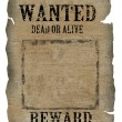 Stock Photo: Vintage wanted poster