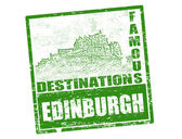 Edinburgh stamp — Stock Vector