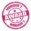 Number one award stamp — Stock Vector