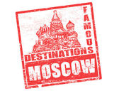 Moscow stamp — Stock Vector