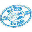 Sea food stamp — Stock Vector