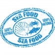 Royalty-Free Stock Vector Image: Sea food stamp