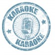 Karaoke stamp - Stock Vector