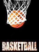 Basketball hoop and ball — Stock Vector