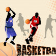 Stock Vector: Basketball abstract background