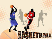 Abstact baloncesto — Vector de stock