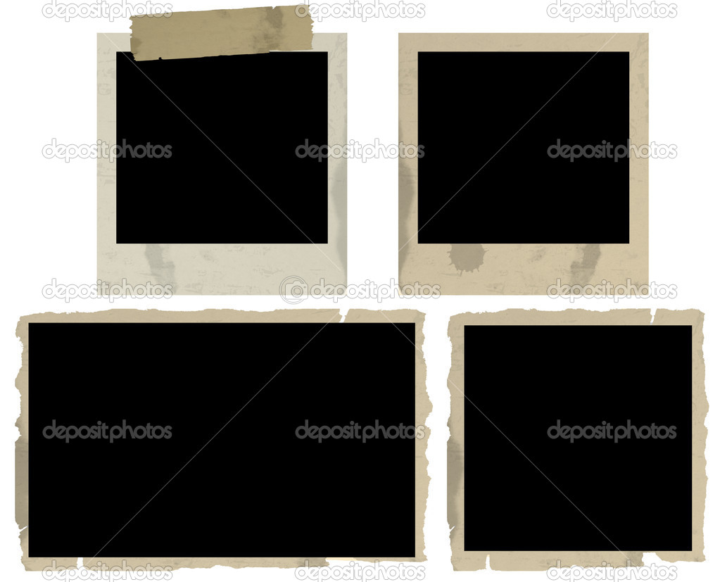 Old Photo Frames on White Background, vector illustration  Stock Vector #5848654